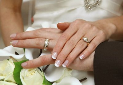 Cork wedding photographer - wedding rings - manicure