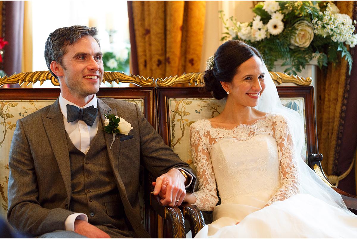 bride and groom humanist wedding