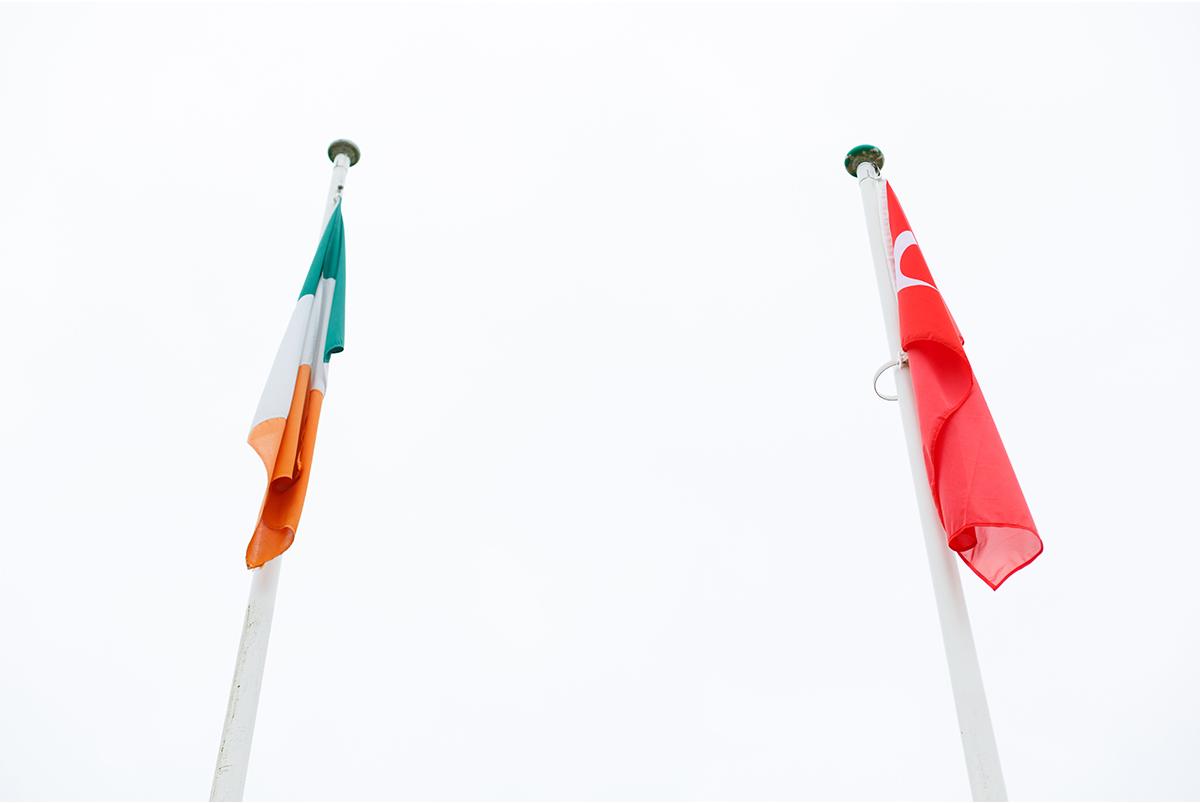 irish and turkish flag