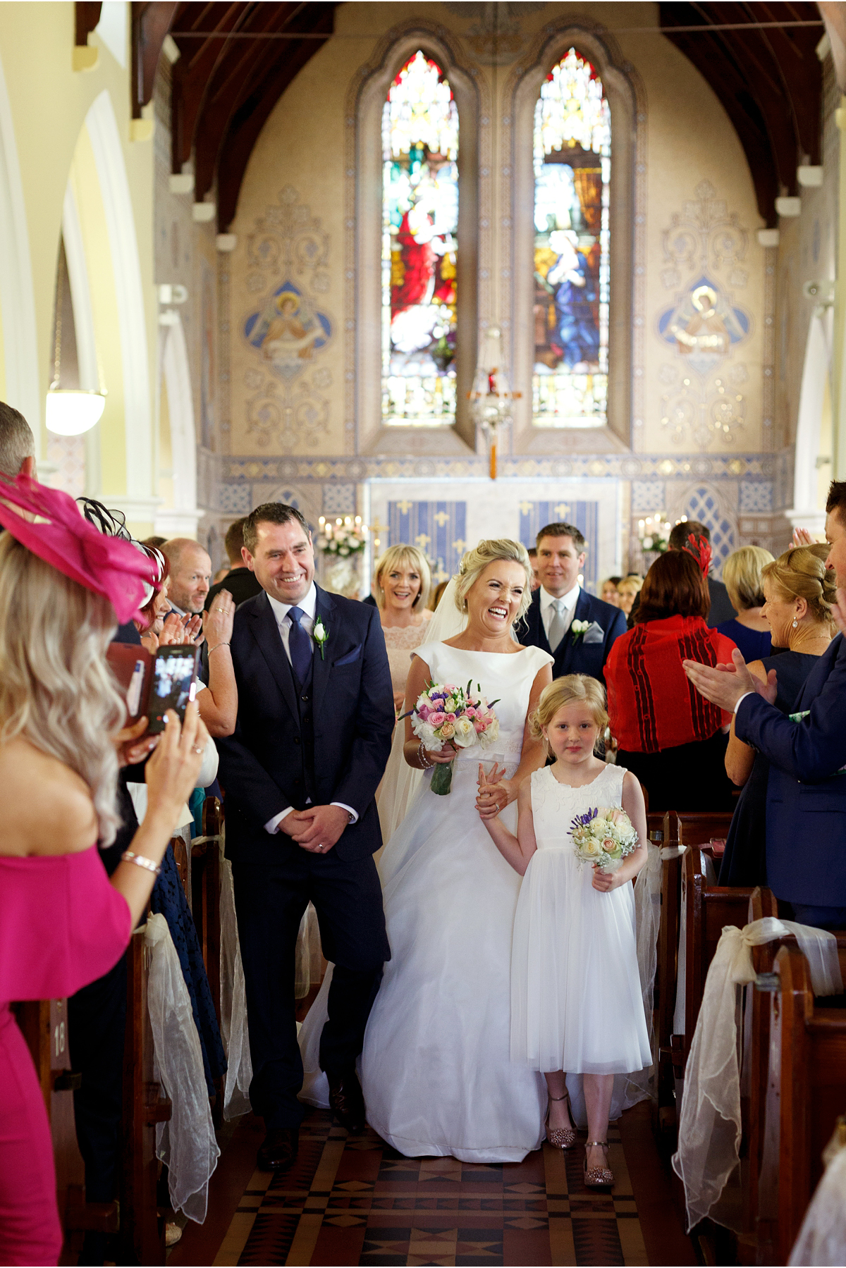 Natural wedding photography Cork Blarney Church