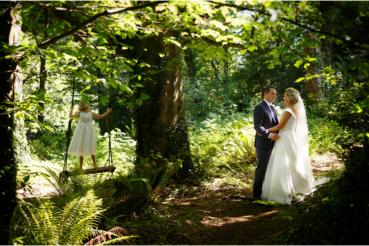 Ballinacurra House wedding natural photographs in the woods