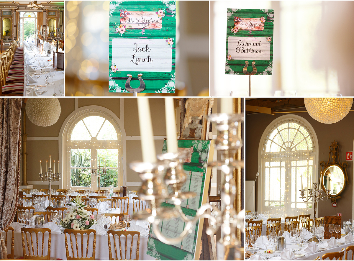 Ballinacurra House wedding dining room