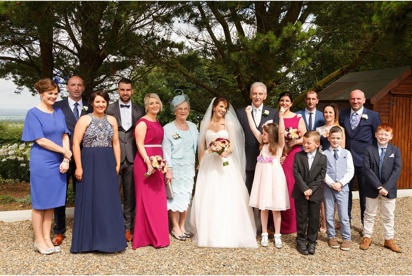 family photograph before the wedding