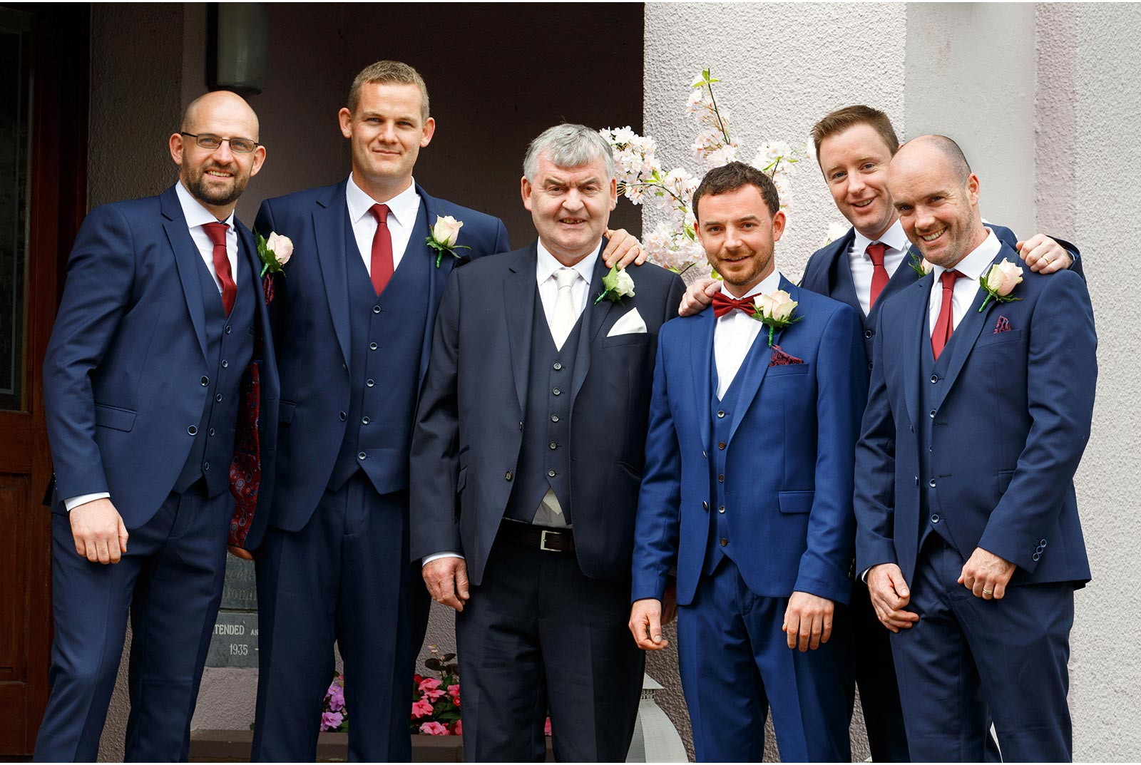 groomsmen navy suits