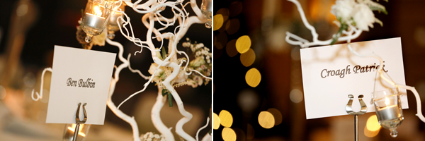 Christmas decor at wedding in Fota Resort by best wedding photographer in Cork Claire O'Rorke