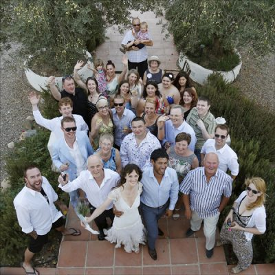 Small casual destination wedding Malaga