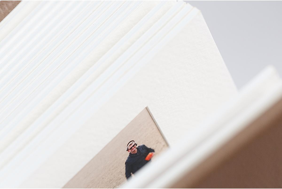 Overlay matted queensberry wedding album