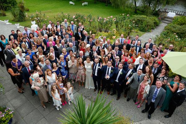Big group photo at Innishannon wedding