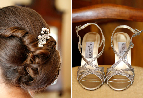 brides up style and wedding sandals