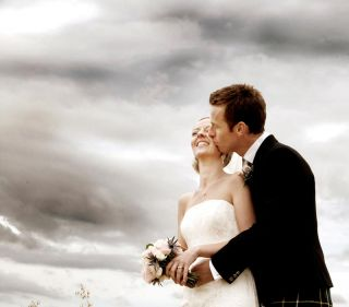 Wedding photographer Cork - dramatic Irish skies