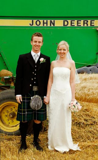 Wedding photographer Innishannon - farmers wedding - john deere wedding
