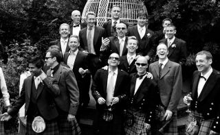 wedding photographer Innishannon House - Scottish boys
