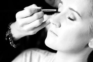 Kate Noonan make up artist at work by Claire O'Rorke Photography