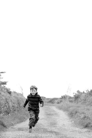 childhood in the Irish countryside - Portrait photographer Cork Claire O'Rorke - running