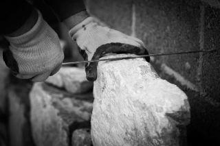 photographer for website - commercial photography - Linehan construction - stonemason