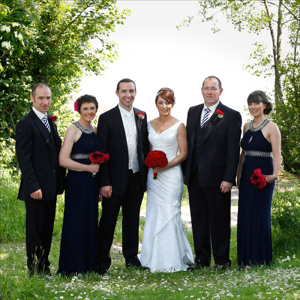 bridal party at Killarney golf course taken by female wedding photographer claire o'rorke