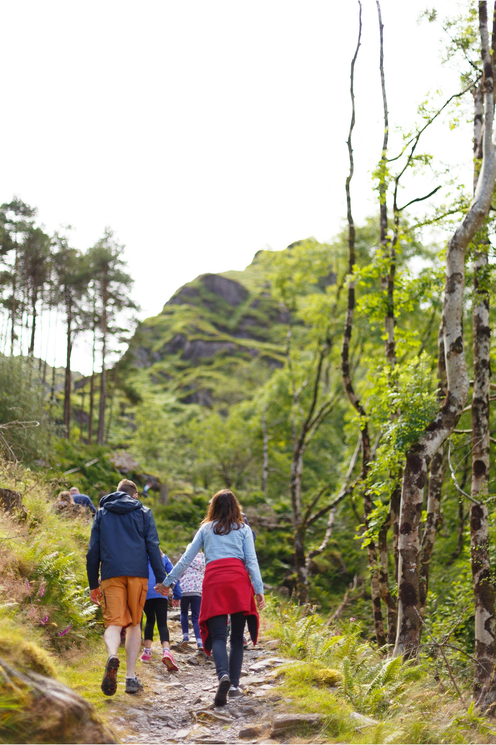 family hiking in Gougane Barra forest park