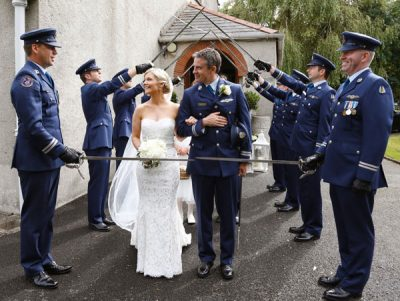Casment air base wedding