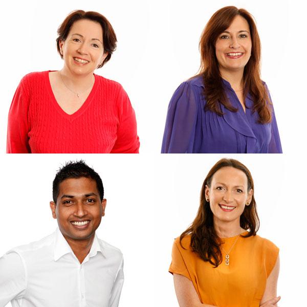 Headshots for a vibrant company