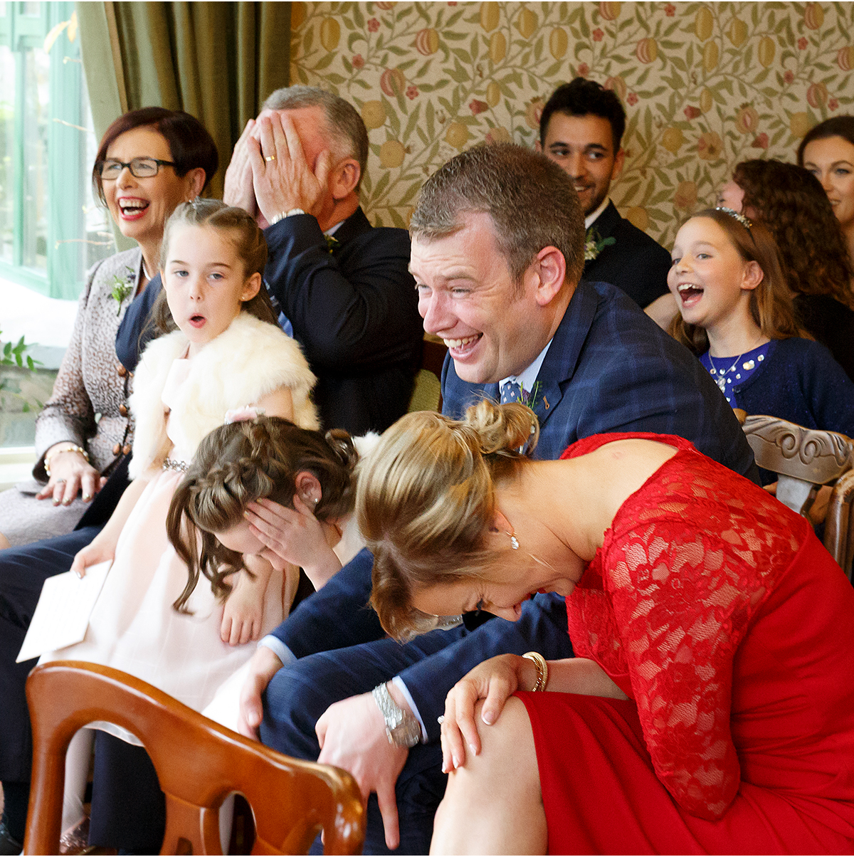wedding laughter when things go wrong