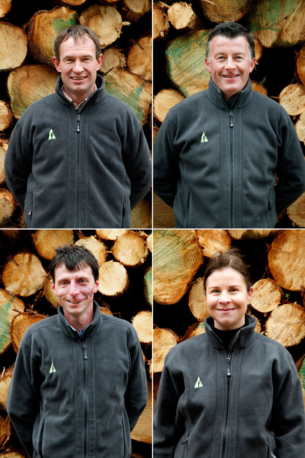 Individuals head shots for forestry company