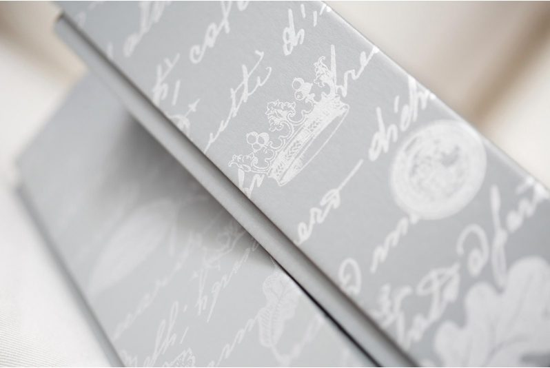 Queensberry packaging wedding album
