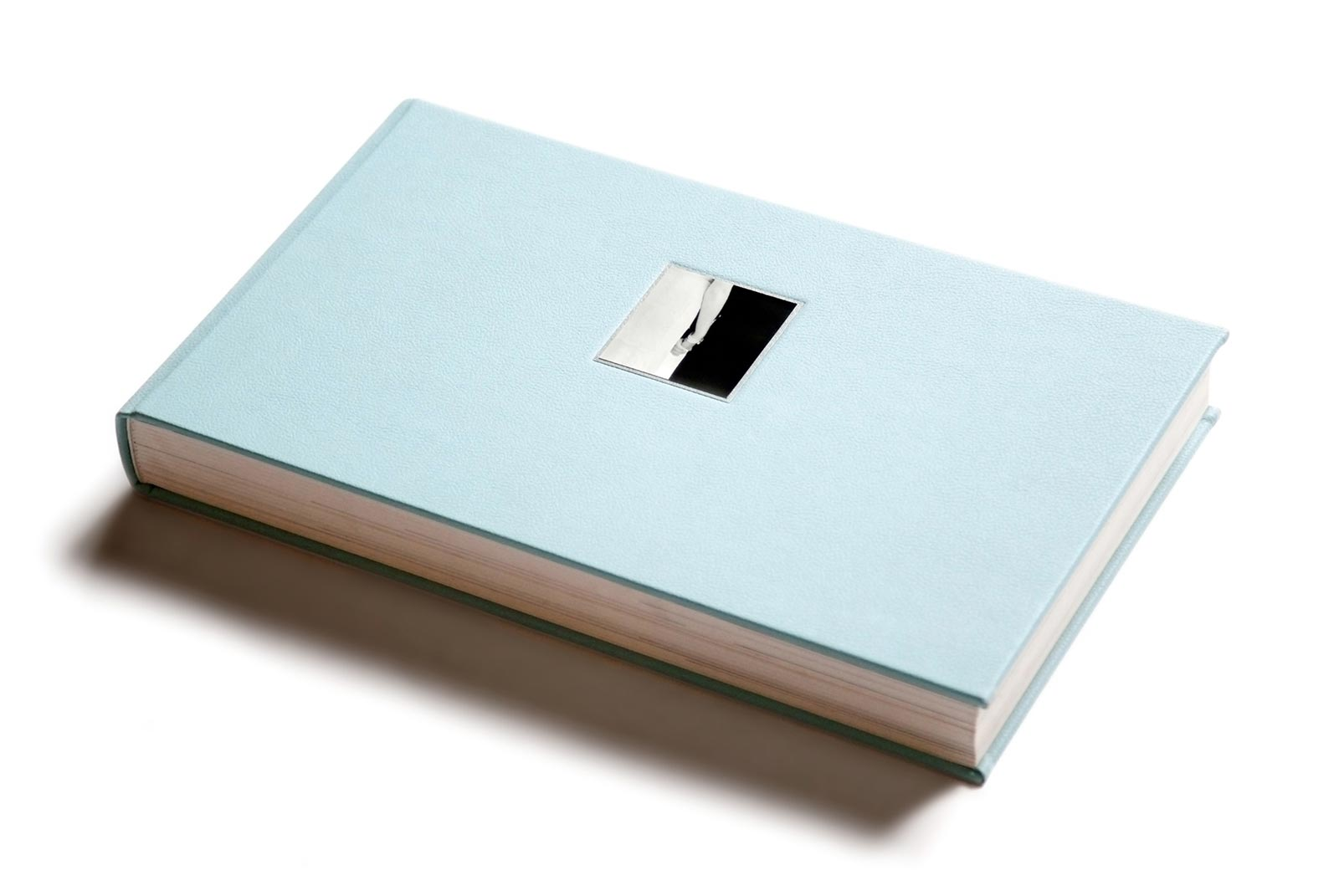Powder blue micro leather cover