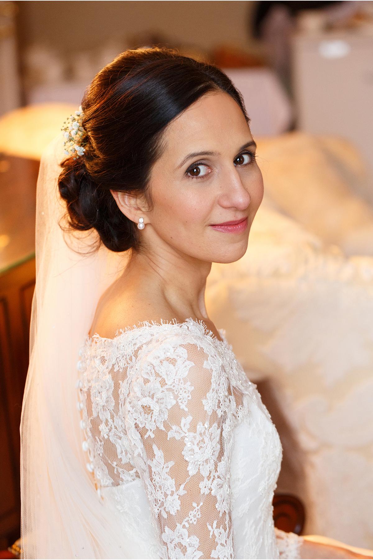 bridal portrait beautiful bride