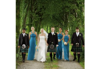 Inishannon wedding photographer - teal bridesmaids - kilts