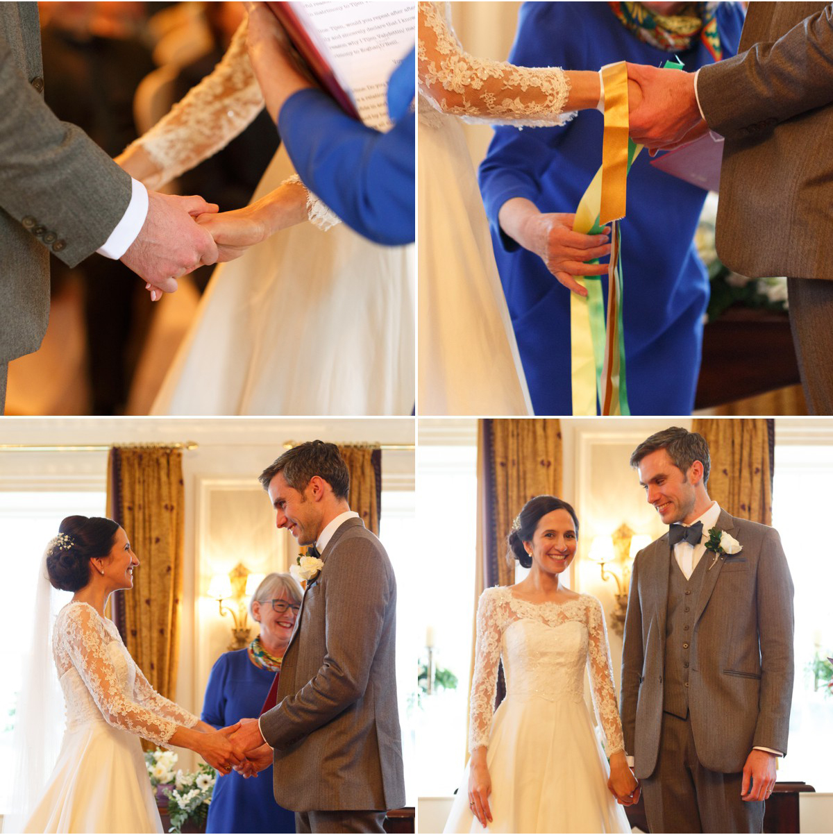 humanist wedding ceremony with hand fasting