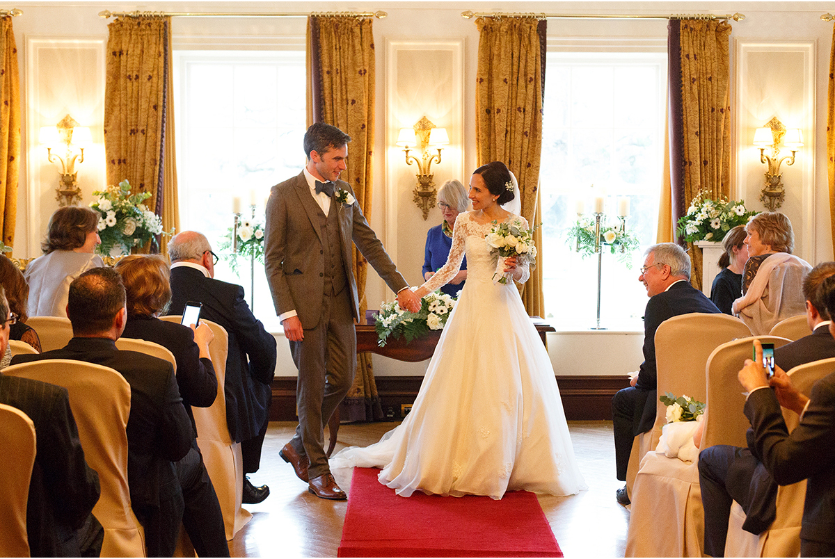 walking down the isle humanist wedding Castlemartyr