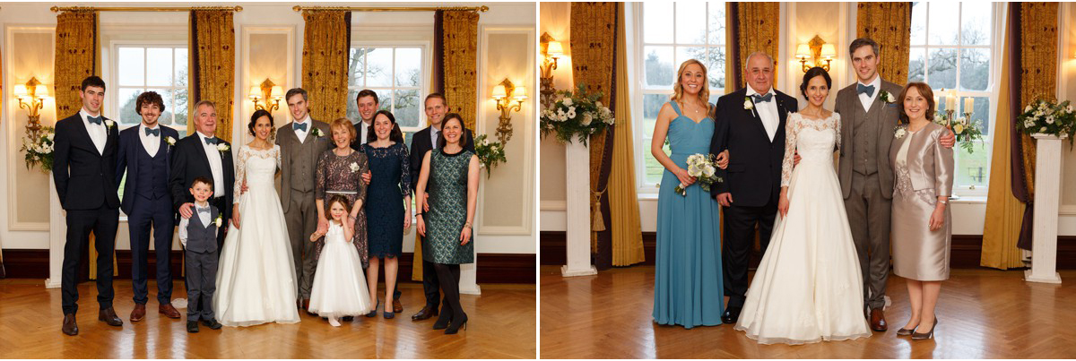 family photographs at wedding
