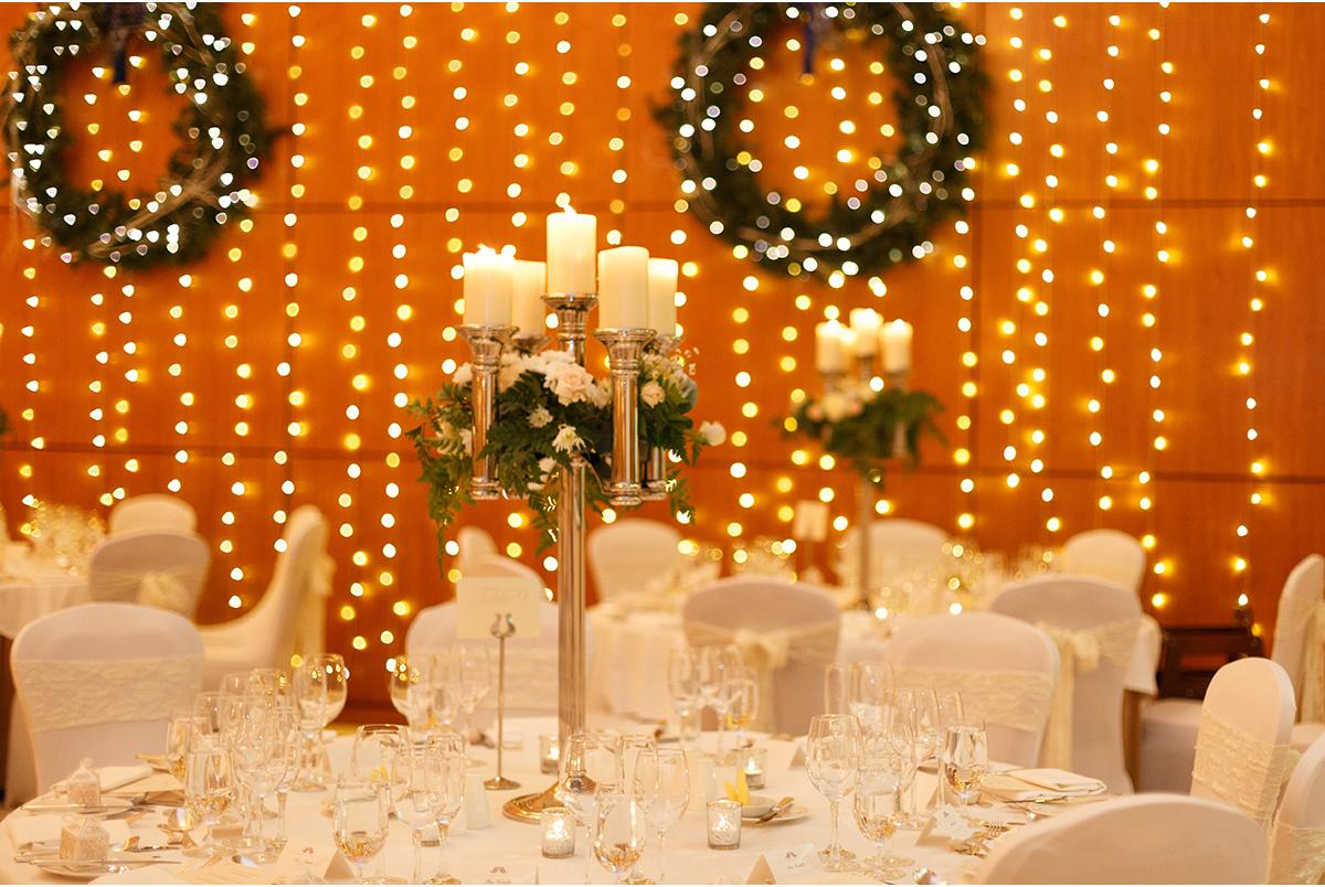 Castlemartyr wedding christmas decor