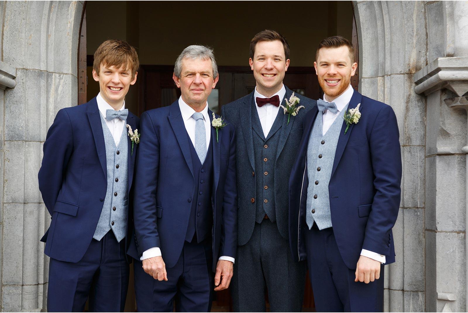 Groom and his grooms men