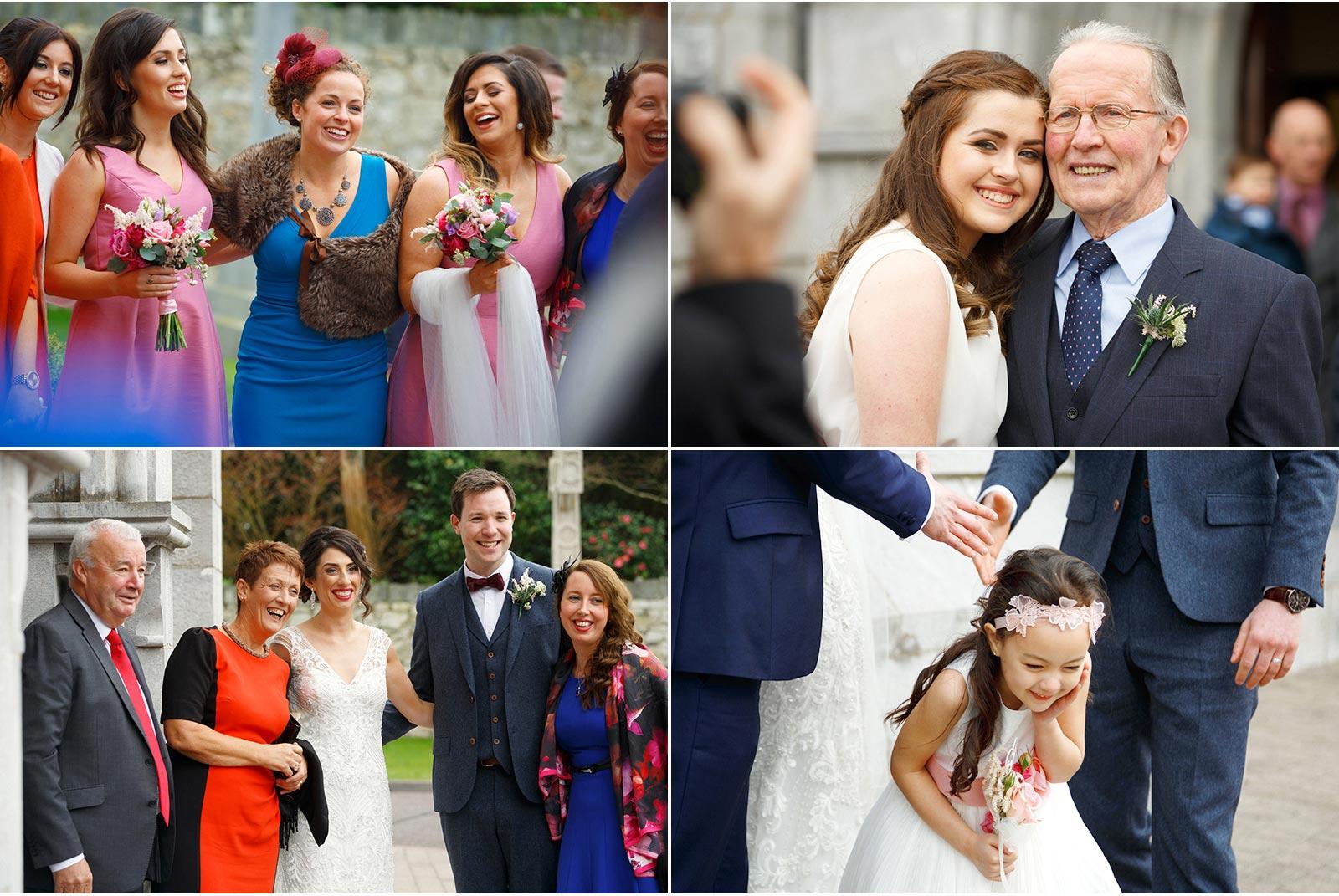 wedding guests at church wedding