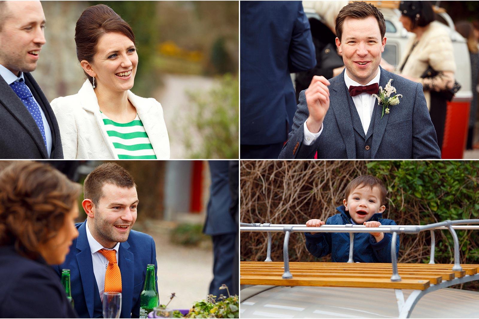 candid wedding guest photos