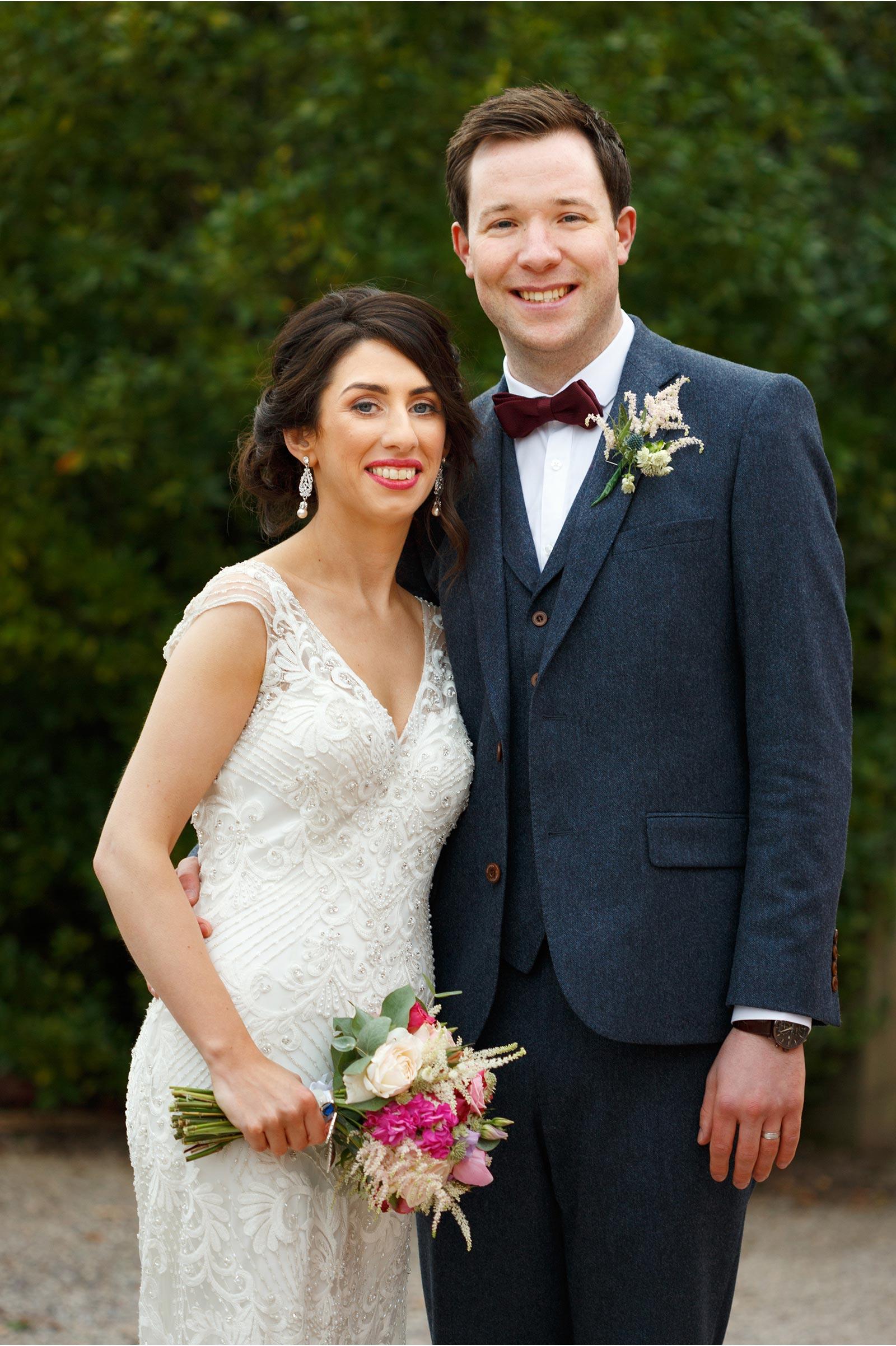 Wedding couple at Barnabrow