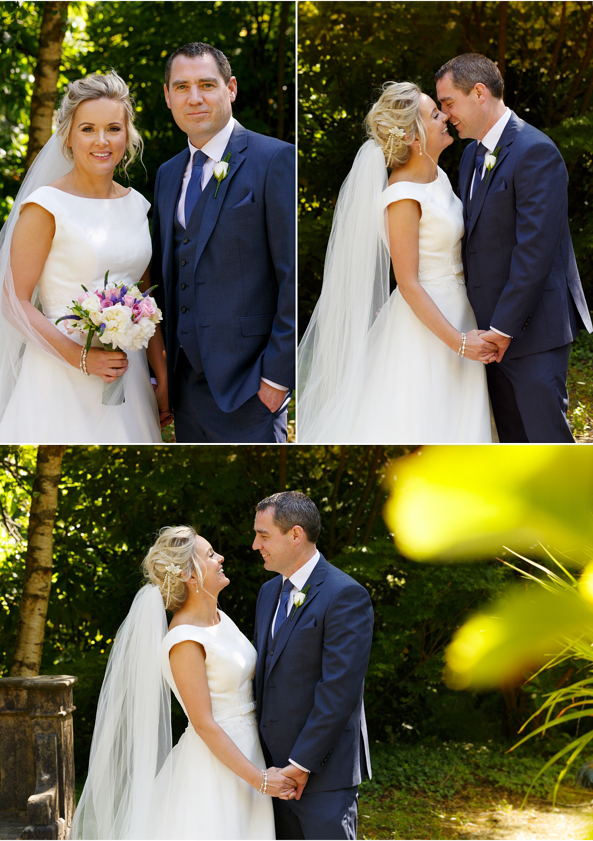 Ballinacurra House wedding natural photographs in the gardens