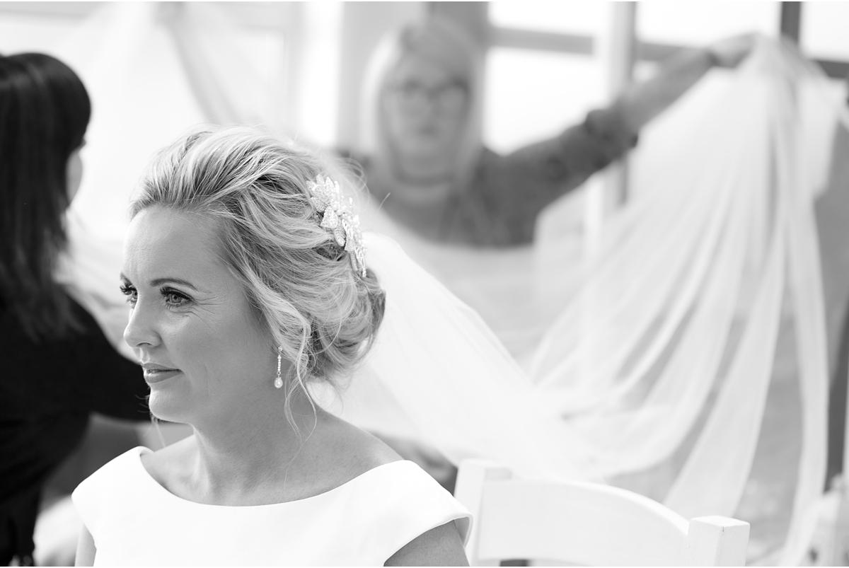 female wedding photographer Cork - wedding veil