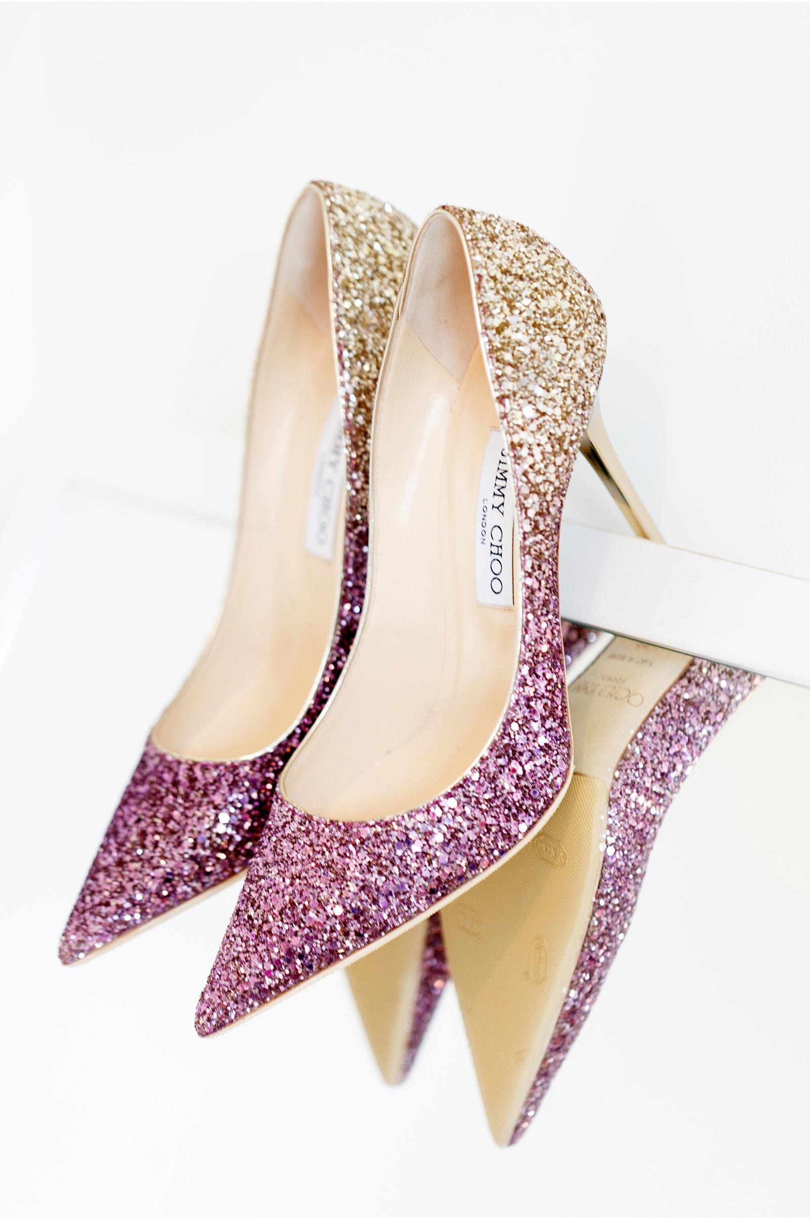 ombre jimmy choo wedding shoe