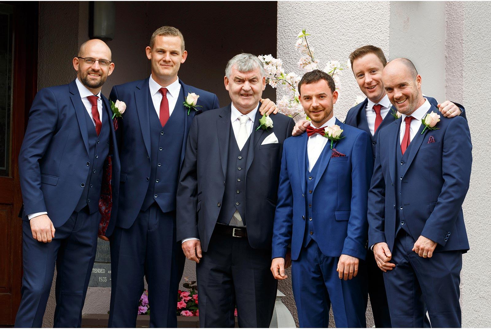 groomsmen navy suits