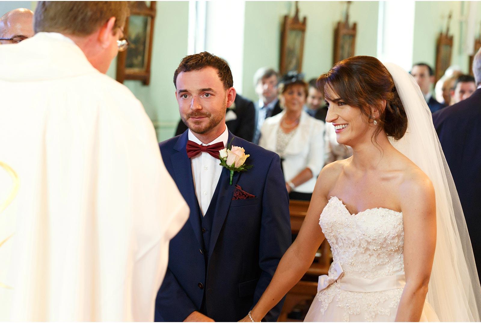 bride and groom meet