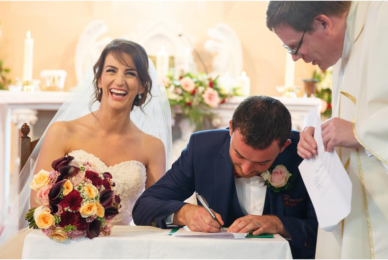 signing the marriage registar