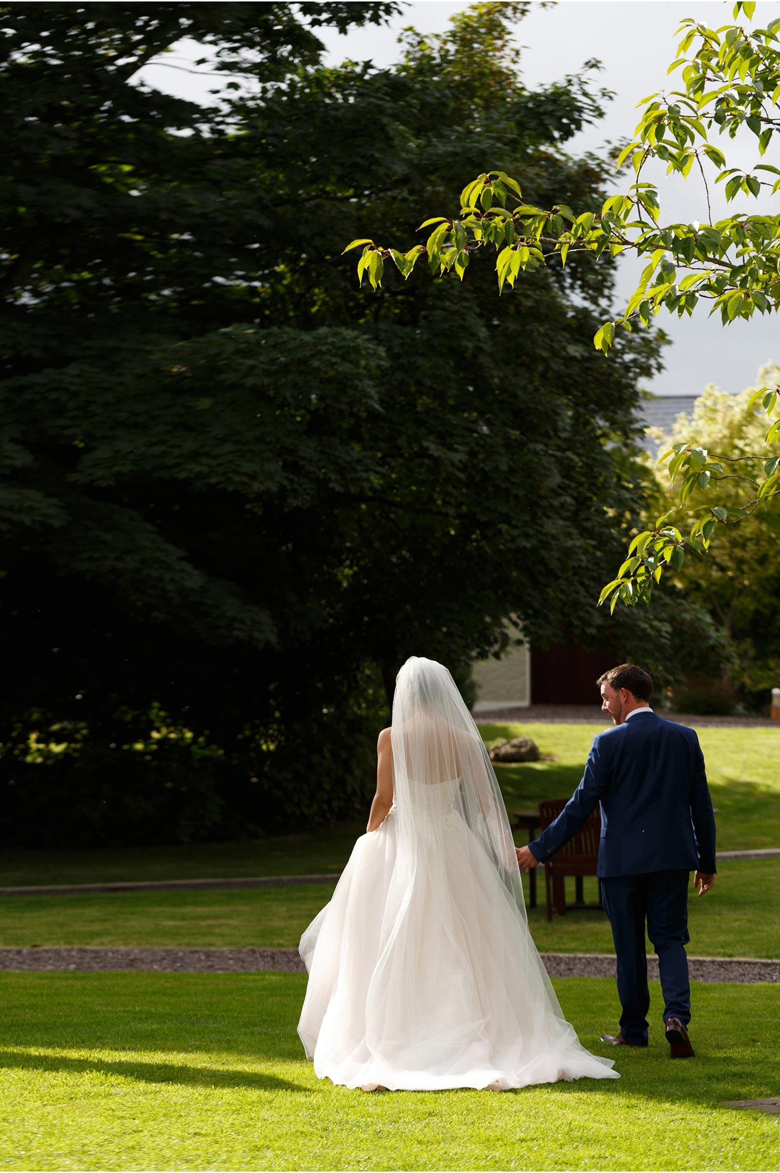 Ballygarry House gardens for wedding photogrphs
