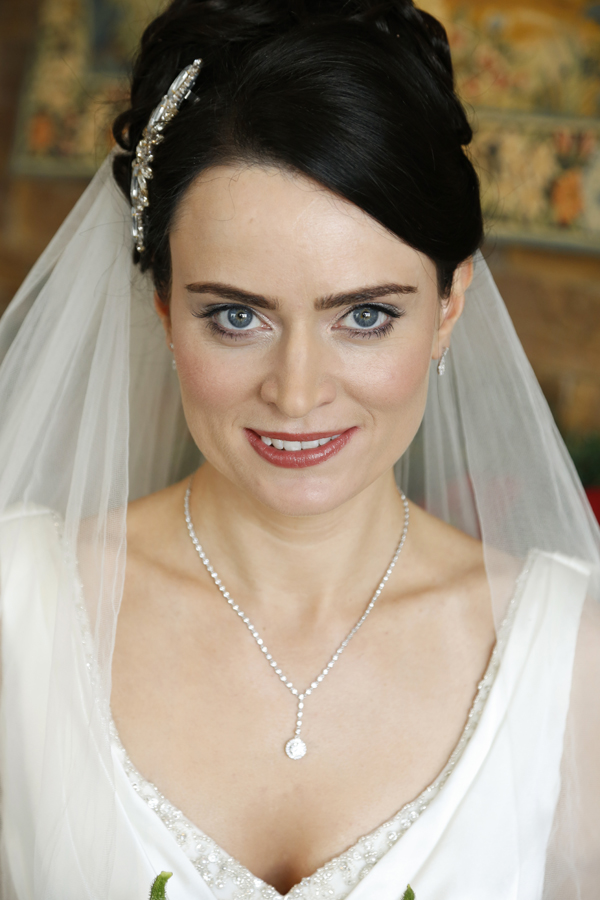 Portrait of beautiful bride at Fota Island