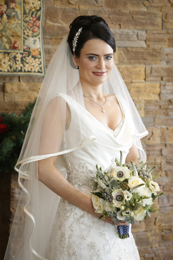 Portrait of bride at Fota Island resort bridal suite