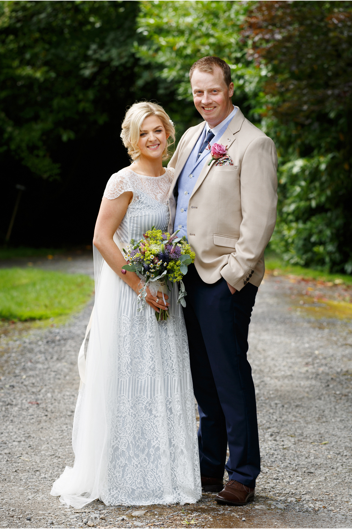 light blue wedding summer wedding Ireland