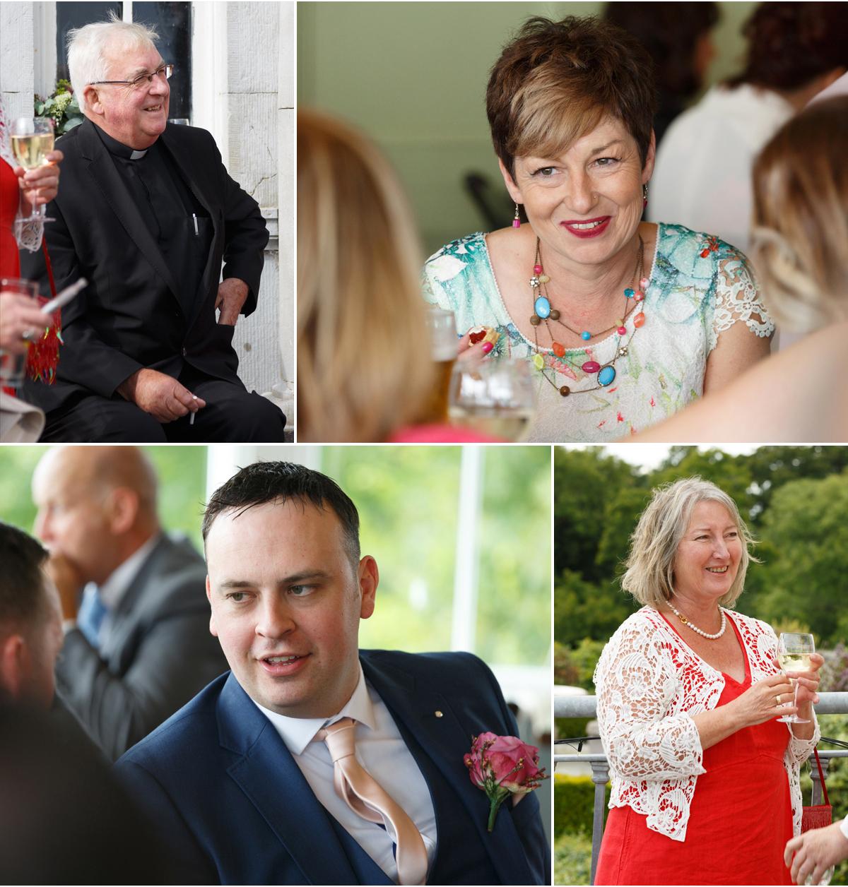 candid wedding photography of wedding guests