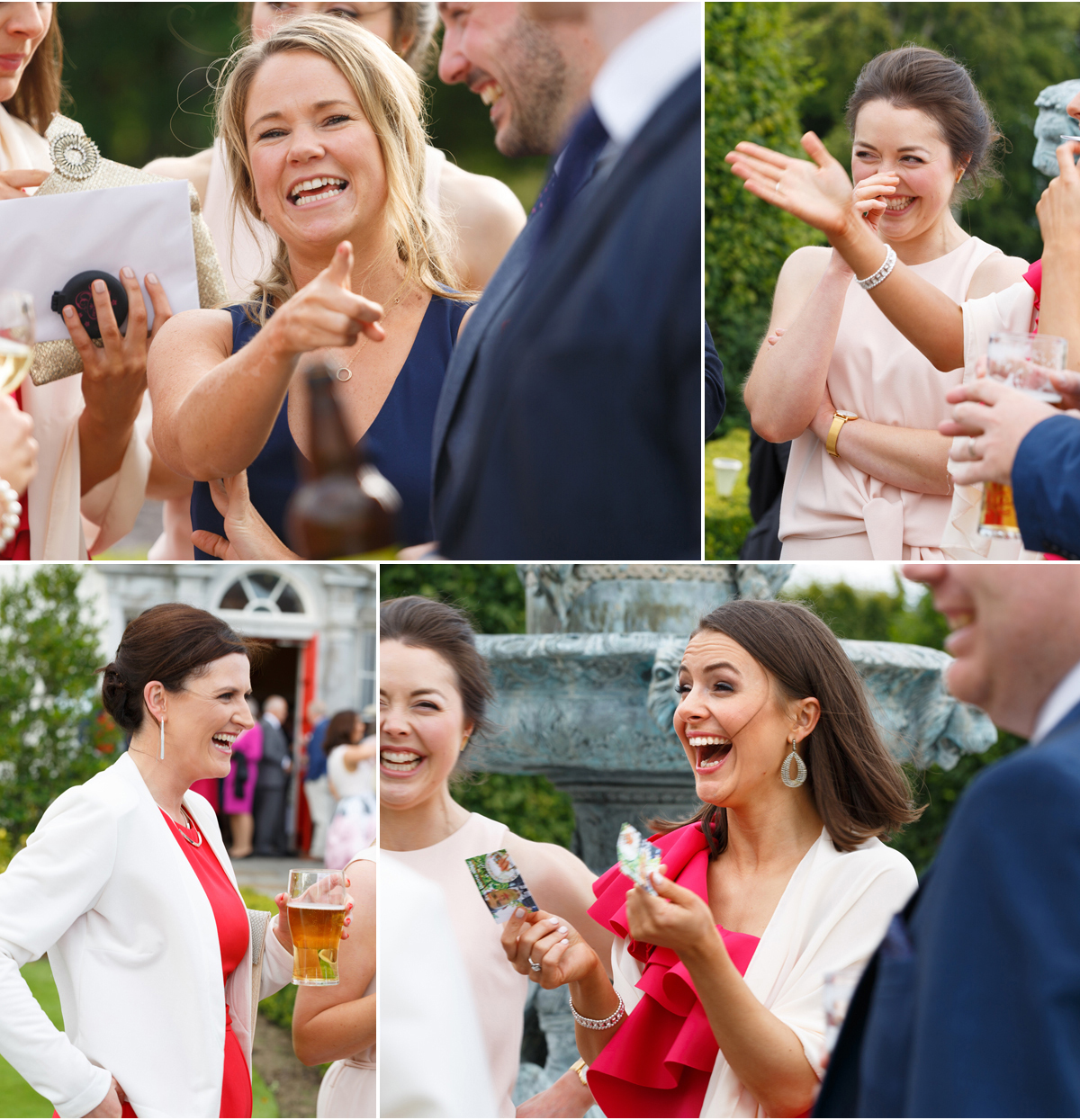 candid photographs of wedding guests