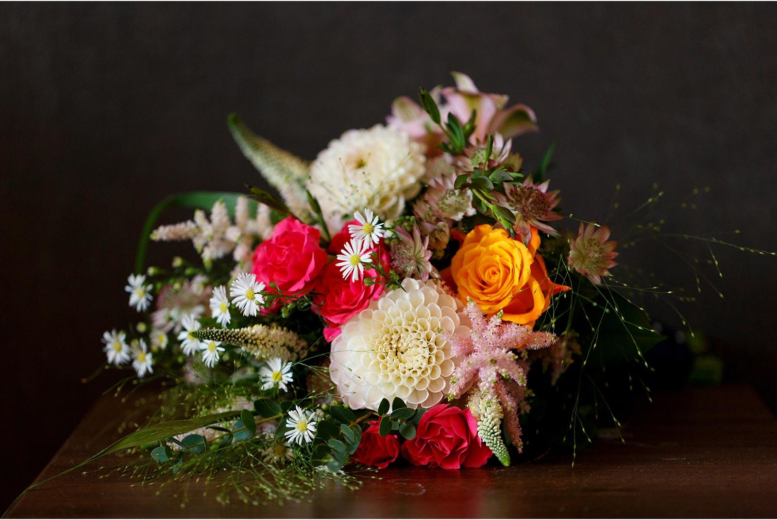 rustic wild flower bridal bouquet from West Cork wedding flowers